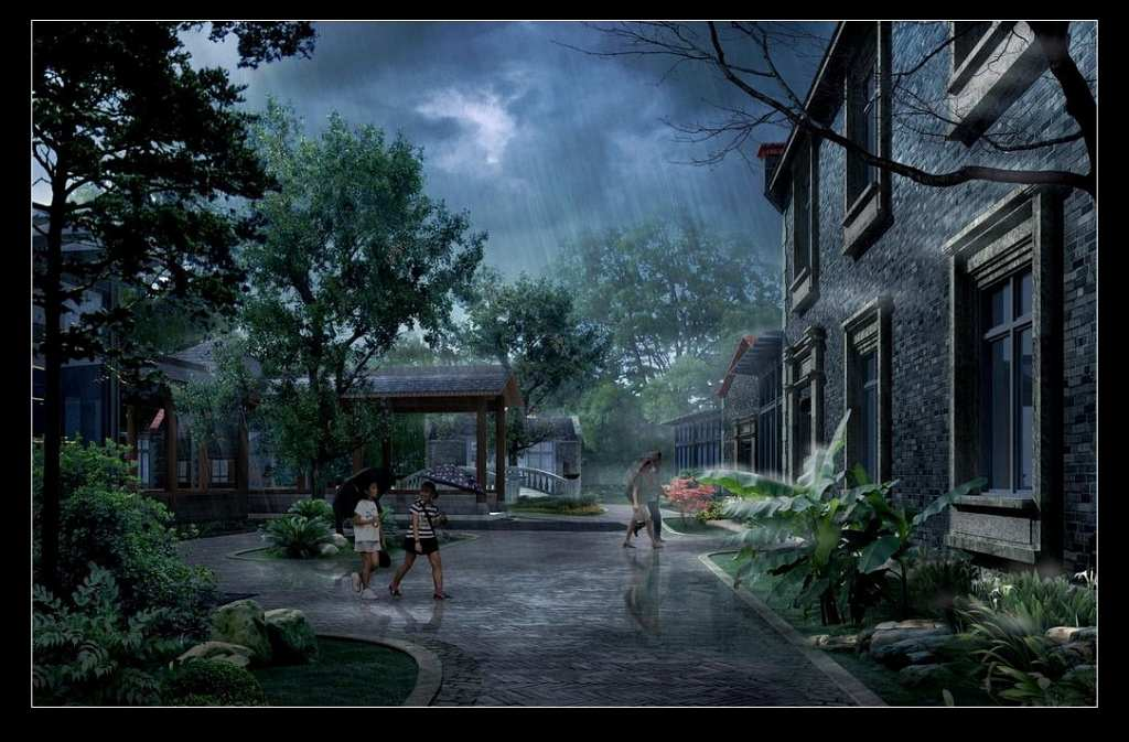 园林景观设计效果图欣赏