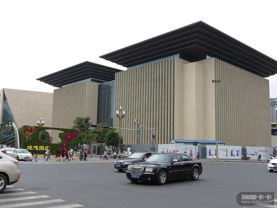 设中的四川省图书馆新馆图片